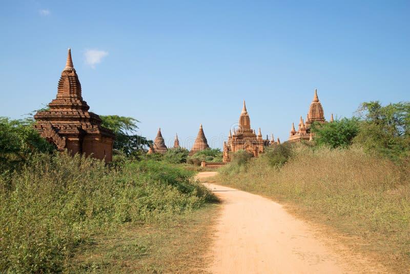 Temples bouddhistes d'un royaume païen antique Vieux Bagan, Myanmar photo libre de droits