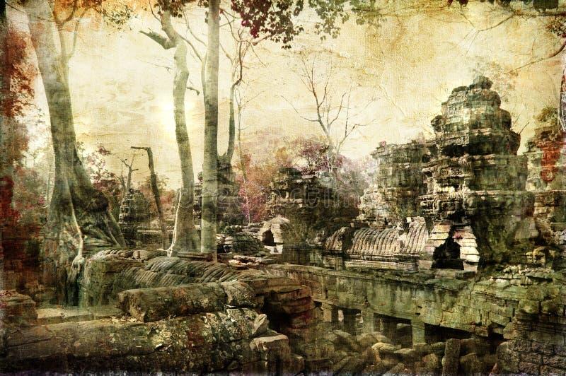 Temples cachés illustration libre de droits