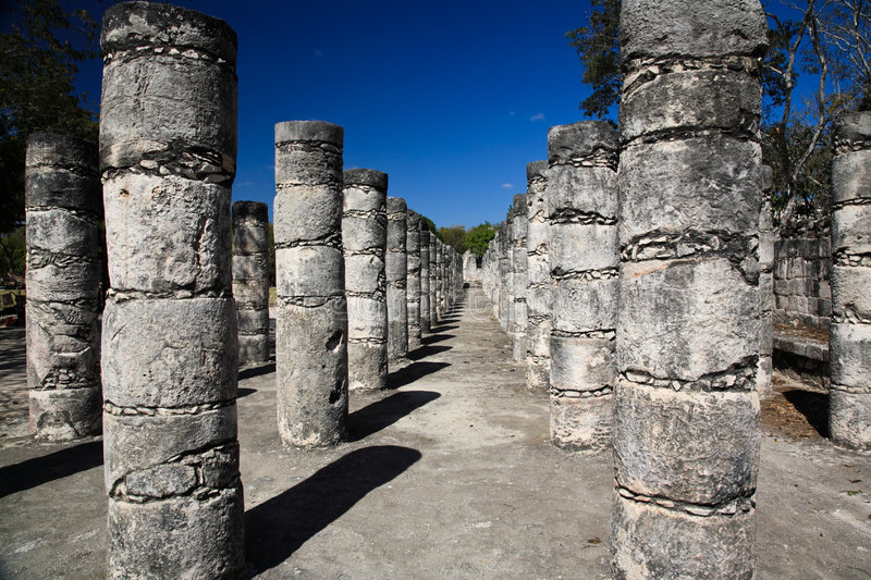 The temples of chichen itza temple royalty free stock photography