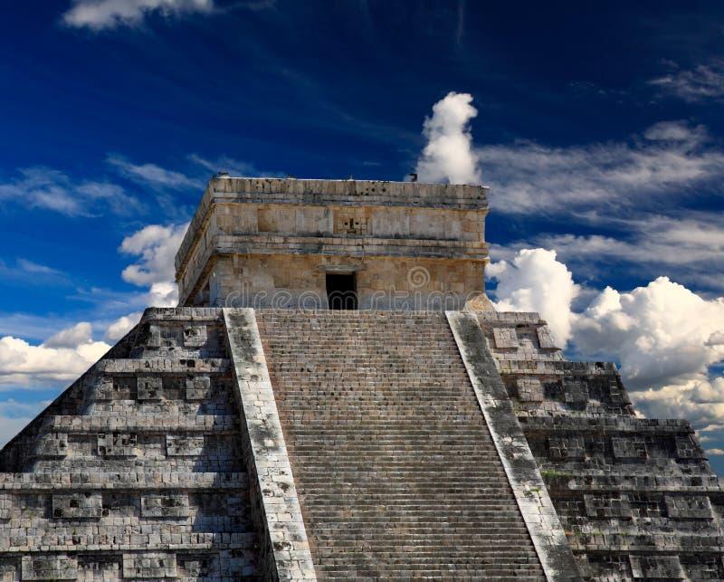 The temples of chichen itza temple in Mexico stock photo