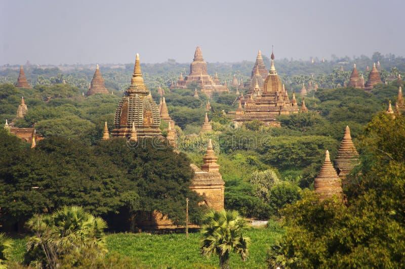 Temples de Bagan. Myanmar (Birmanie). photographie stock libre de droits