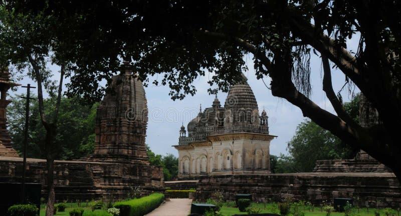 Temples de Khajuraho, Inde photographie stock libre de droits
