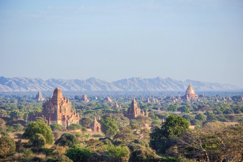 Temples en Bagan Myanmar au point de vue photo libre de droits