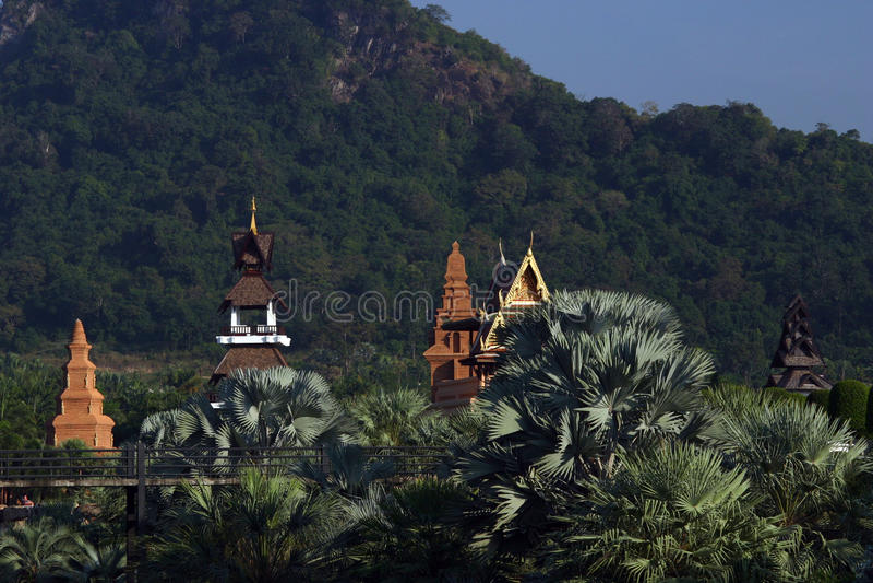 Temples en Thaïlande photo libre de droits
