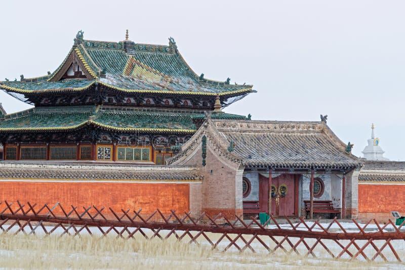 Temples of Erdene Zuu klooster stock foto