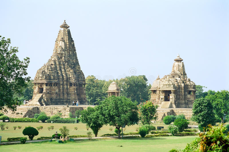 India Erotic Temples in Khajuraho stock images