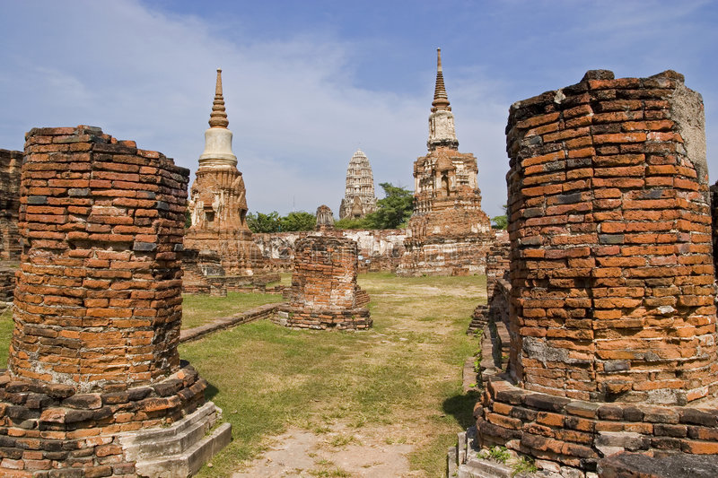 Download Temples at old Ayuthaya stock image. Image of burmese - 2714709