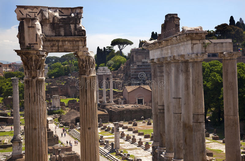 Temples of Saturn Forum Rome Italy