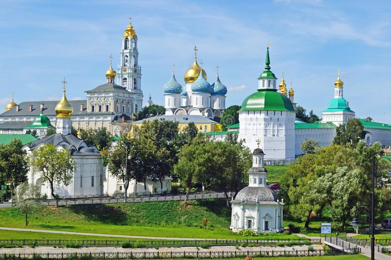 Ensemble of the Holy Trinity Sergius Lavra in Sergiev Posad, Russia royalty free stock photography