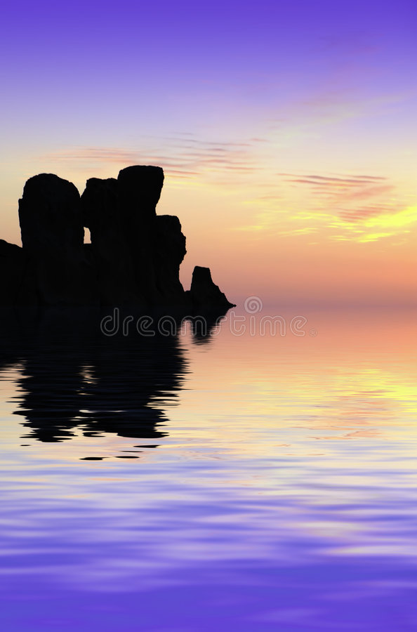 Temples at Sunset. The oldest free-standing building/temple in the world. Oldest neolithic prehistoric temple built thousands of years before the pyramids stock image