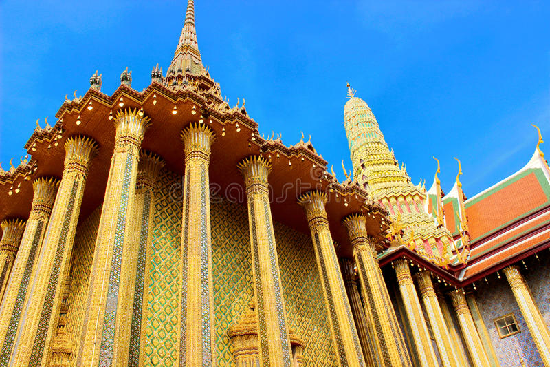 Temples thaïs image libre de droits
