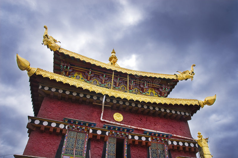 Temples in Tibet. Of solemn heavenliness royalty free stock image