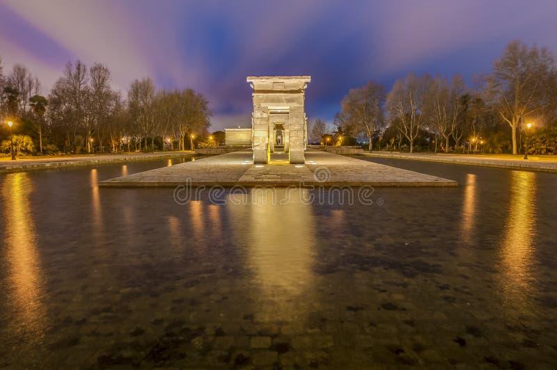 Templet av Debod i Madrid, Spanien arkivbilder