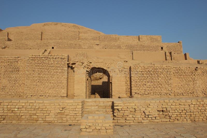 Templet av den Inshushinak guden i Chogha Zanbil, Iran arkivbild