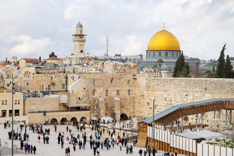 Templet av Jerusalem i Israel royaltyfri bild