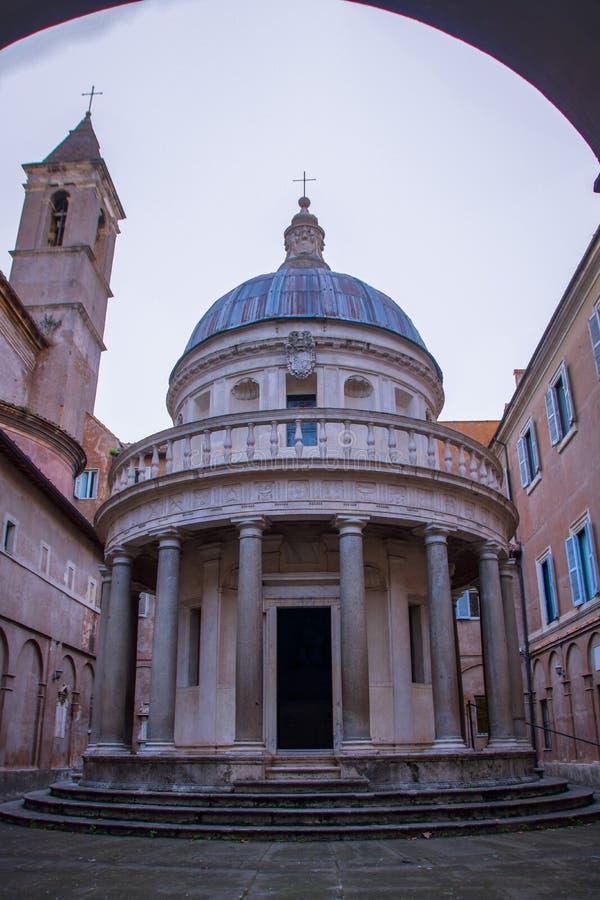 Templet av San Pietro i Montorio arkivfoton