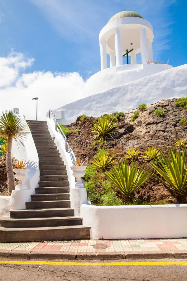 Templet cristão Garachico Tenerife fotografia de stock royalty free