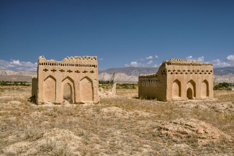 Templet fördärvar i Kirgizistan royaltyfria bilder