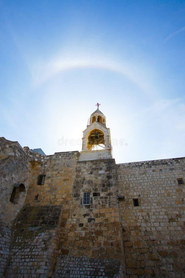 Templet i Israel på soluppgång arkivfoton