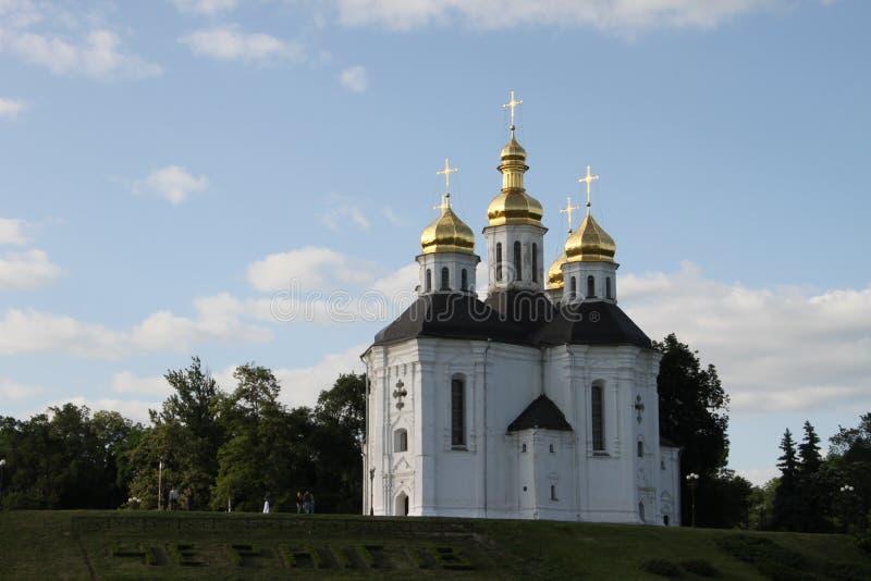 Templet i staden av Chernigov i Ukraina fotografering för bildbyråer