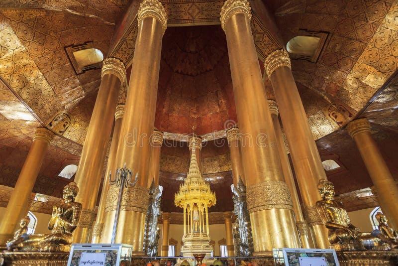 Templet namnger Swe Taw Myat, Yangon Myanmar royaltyfri foto