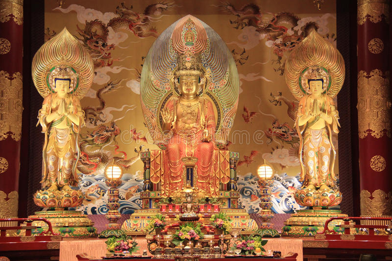 Templet och museet för Buddhatandrelik som baseras på skarp smakdynaen fotografering för bildbyråer