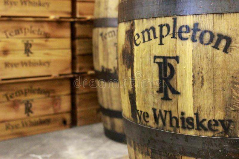 Templeton Rye Whiskey royalty-vrije stock foto