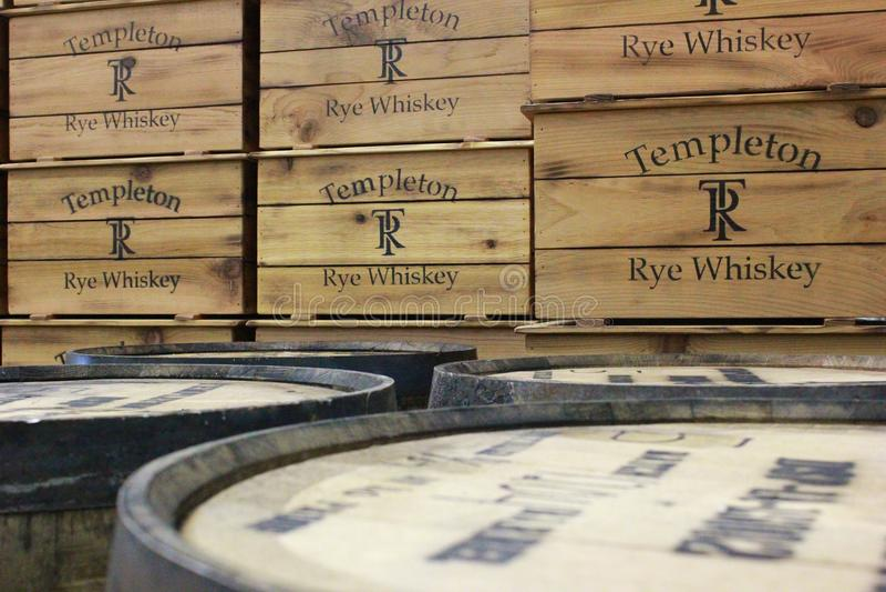 Templeton Rye Whiskey royalty-vrije stock afbeelding
