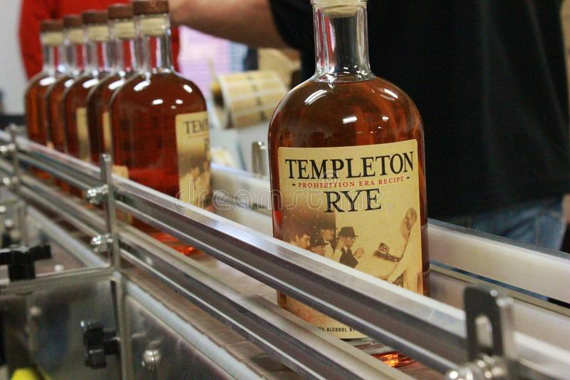 Templeton Rye Whiskey royalty-vrije stock afbeeldingen
