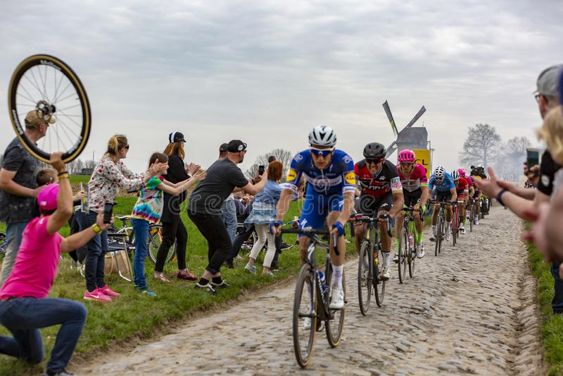 The Peloton - Paris-Roubaix 2018 royalty free stock photos
