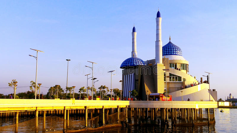 Templi dei musulmani nella città di Ujung Pandang immagini stock