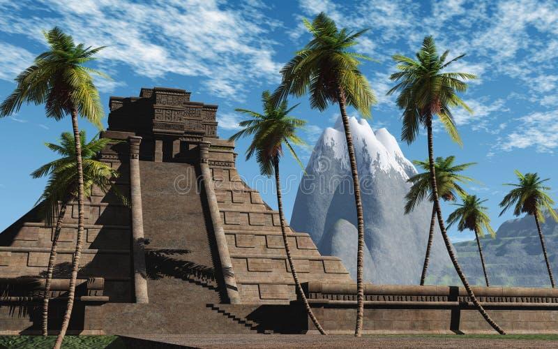 Templo 03 do Maya ilustração stock