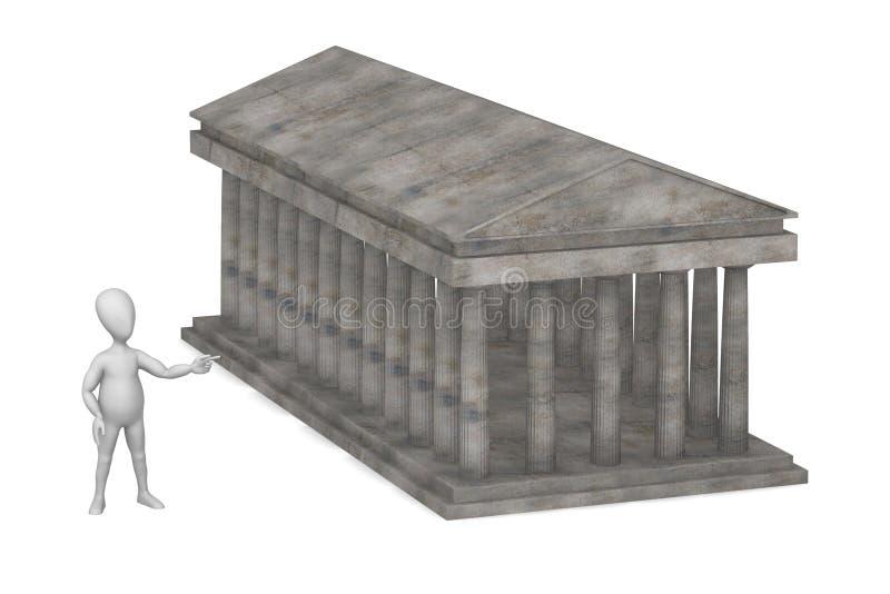 Templo ilustração stock