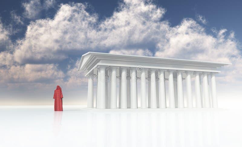 Templo ilustração royalty free