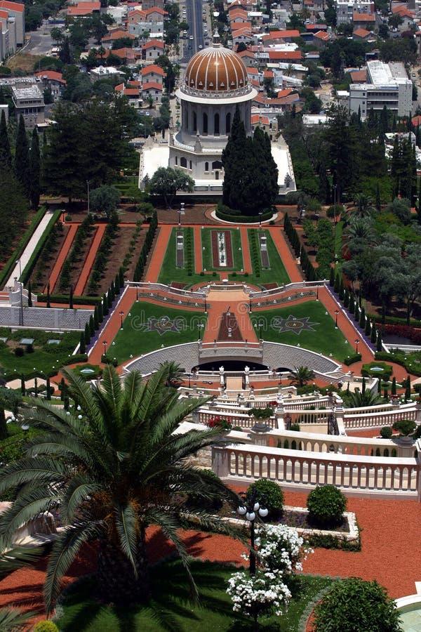 Templo & jardins de Bahai imagens de stock royalty free