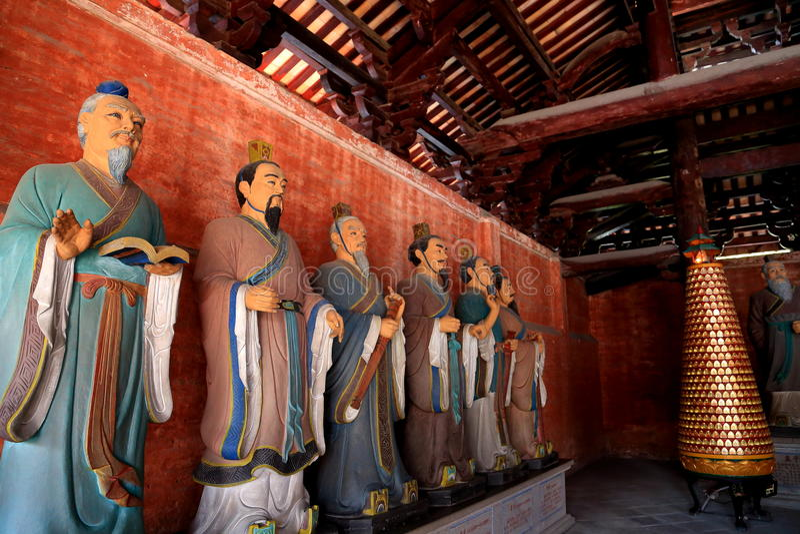 Templo ancioent chino de Confucio en Guangdong imagenes de archivo