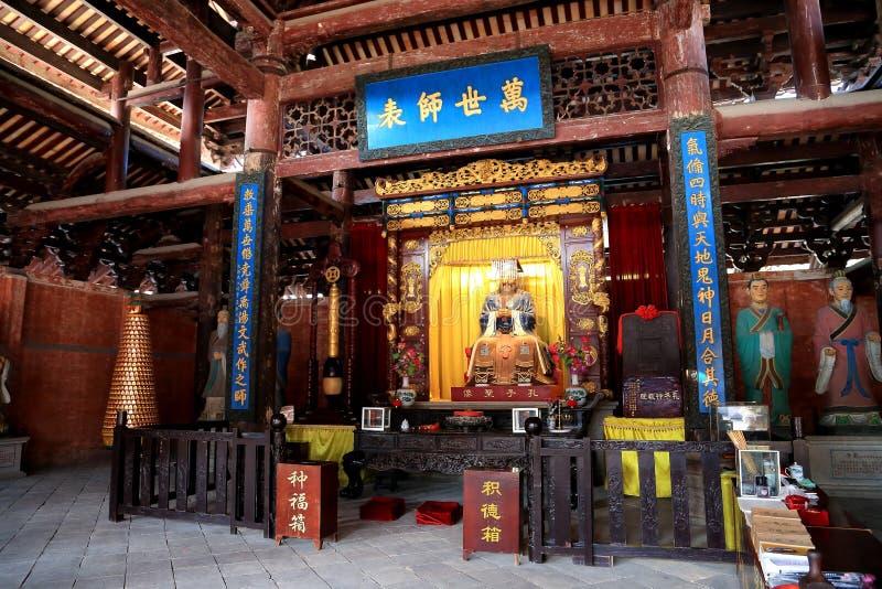 Templo ancioent chino de Confucio en Guangdong imagen de archivo
