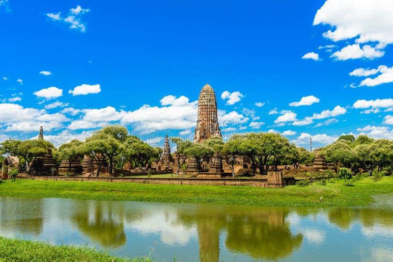Templo antigo de Ayutthaya, Wat Phra Ram, Tailândia imagem de stock royalty free