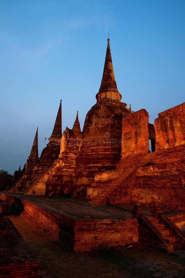 Templo antigo em Tailândia imagens de stock