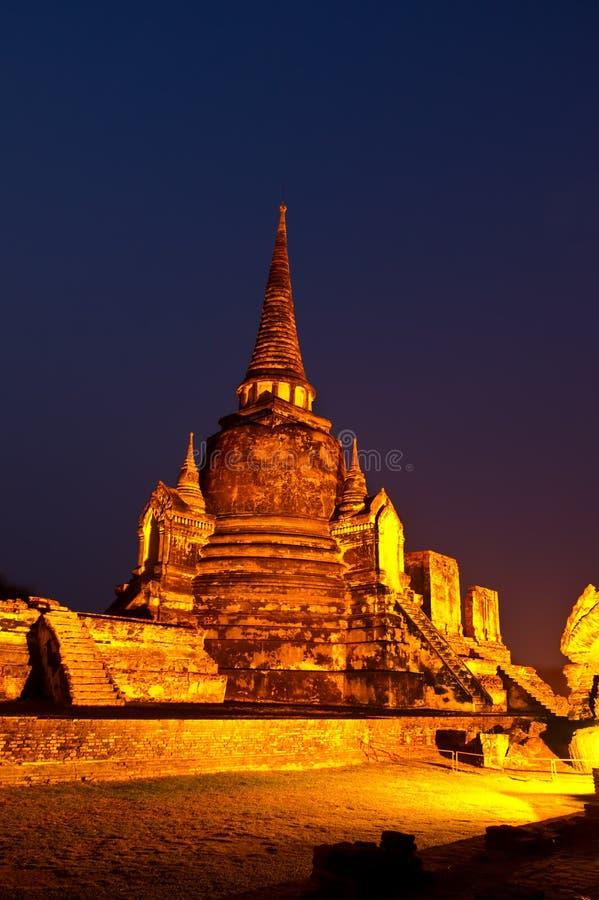 Templo antigo em Tailândia fotografia de stock royalty free