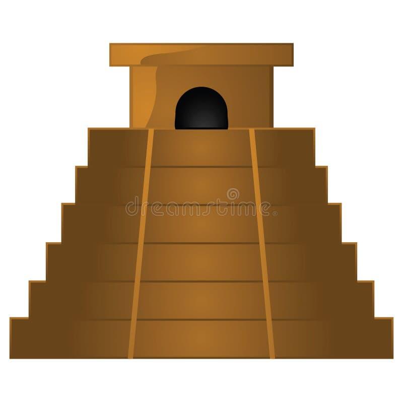 Templo antiguo de la pirámide stock de ilustración