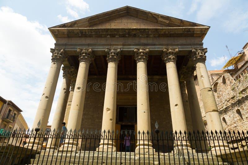 Templo antiguo de Roman Empire vic fotos de archivo