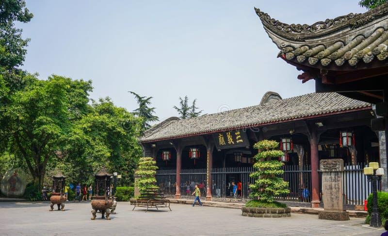 Templo antiguo en Chengdu, China imagen de archivo libre de regalías