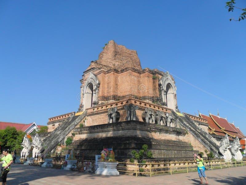 Templo antiguo en Chiang Mai fotografía de archivo