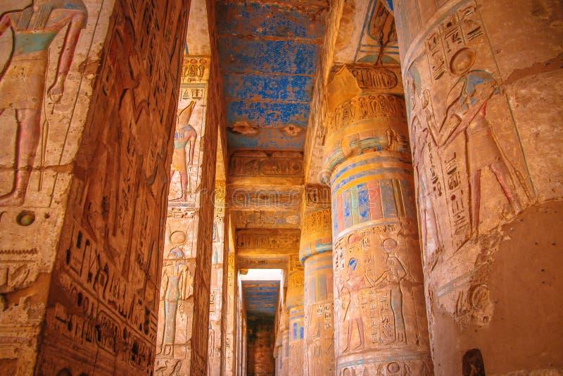 Templo antiguo hermoso de Medina-Habu Egipto, Luxor foto de archivo