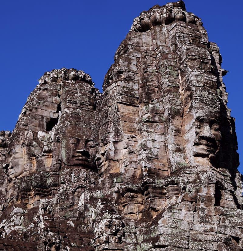 Templo antiguo monumental de Bayon en Camboya Templo medieval en Indochina Arte arquitectónico de civilizaciones antiguas imagen de archivo libre de regalías