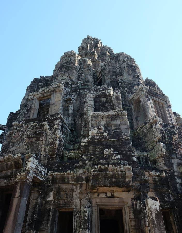 Templo antiguo monumental de Bayon en Camboya Templo medieval en Indochina Arte arquitectónico de civilizaciones antiguas fotografía de archivo