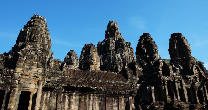 Templo antiguo monumental de Bayon en Camboya Templo medieval en Indochina Arte arquitectónico de civilizaciones antiguas Bayon imagenes de archivo