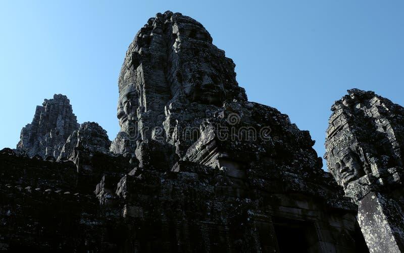 Templo antiguo monumental de Bayon en Camboya Templo medieval en Indochina Arte arquitectónico de civilizaciones antiguas Bayon fotos de archivo