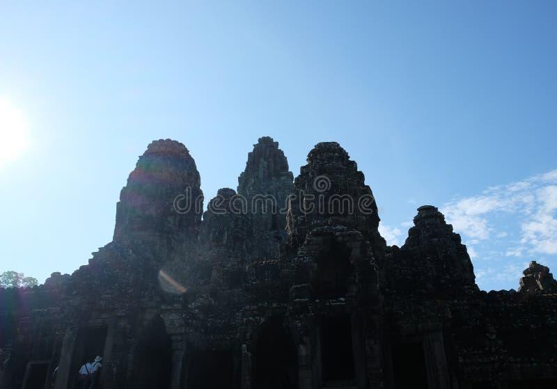 Templo antiguo monumental de Bayon en Camboya Templo medieval en Indochina Arte arquitectónico de civilizaciones antiguas Bayon foto de archivo
